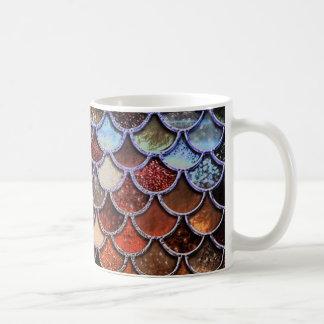 ErdluxusGlitter-Meerjungfrau-Skalen Kaffeetasse