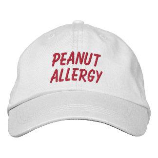 Erdnuss-Allergie gestickter Hut