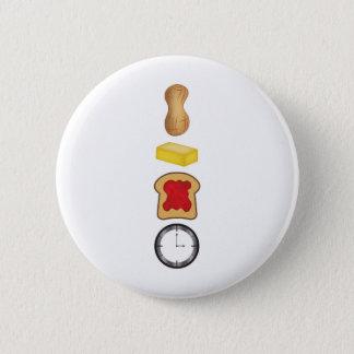 Erdnussbutter-Gelee-Zeit-Vertikale Runder Button 5,7 Cm