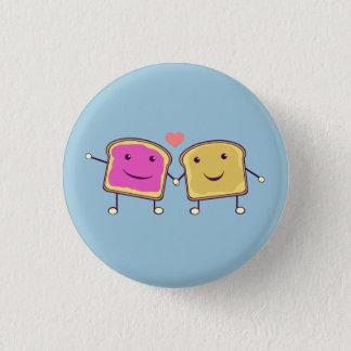 Erdnussbutter und Gelee Runder Button 2,5 Cm