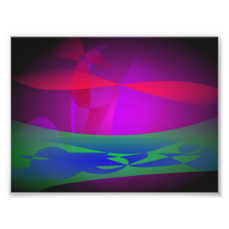 Erdozean-Gras Photodruck