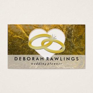Ereignis-Hochzeits-Planer der Imitat-Goldfolien-| Visitenkarten