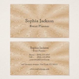 Ereignis-Planer-Imitat-Goldsubtile Reben Visitenkarten