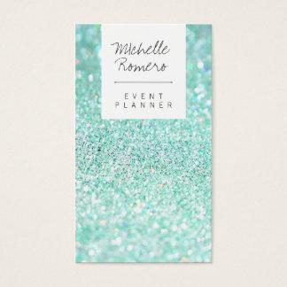 Ereignisplaner bokeh Glitter des modernen girly Visitenkarten
