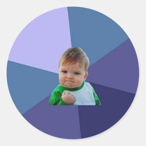Erfolgs-Kind Runder Sticker