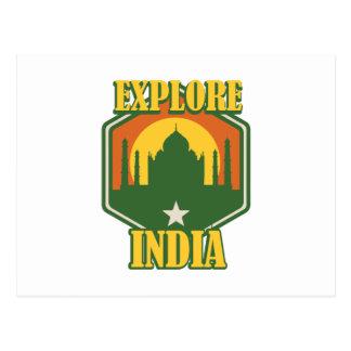 Erforschen Sie Indien Postkarte