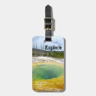 Erforschen Sie (Yellowstone N.P.) Gepäckanhänger