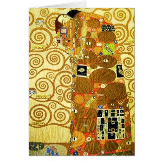 Erfüllungs-Anmerkungs-Karte Gustav Klimt Mitteilungskarte