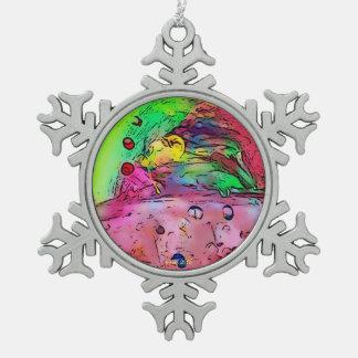 Erhalten besprüht?! Verzierung Schneeflocken Zinn-Ornament