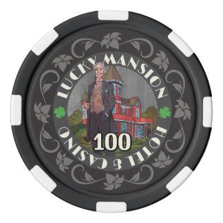 Erhalten Sie glückliche Poker-Chips Poker Chips Set