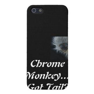 Erhaltener Schwanz? Blauer mit Augen Chrom-Affe iP iPhone 5 Hüllen