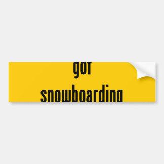 erhaltener Snowboarding? Autoaufkleber