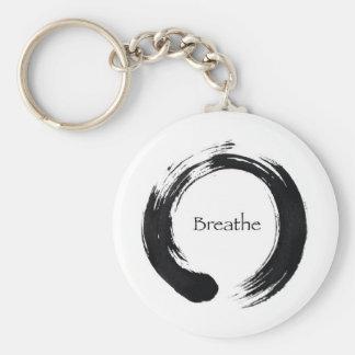 Erinnern Sie sich zu atmen! Standard Runder Schlüsselanhänger