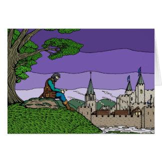 Erinnerungen von Camelot Grußkarte