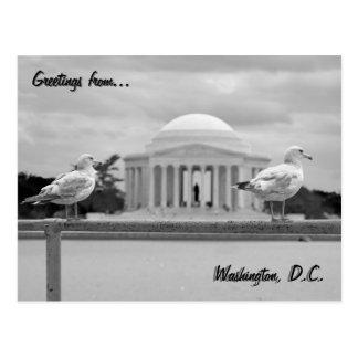 Erinnerungs-/Gezeiten- Becken Jeffersons Postkarte