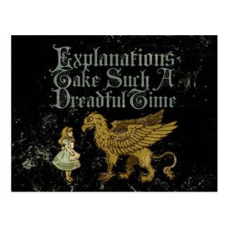 Erklärungen Alices Gryphon nehmen solch ein Postkarte
