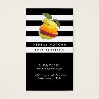 Ernährungswissenschaftler trägt Logo - Visitenkarte