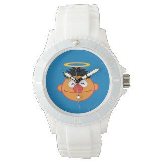 Ernie lächelndes Gesicht mit Halo Armbanduhr
