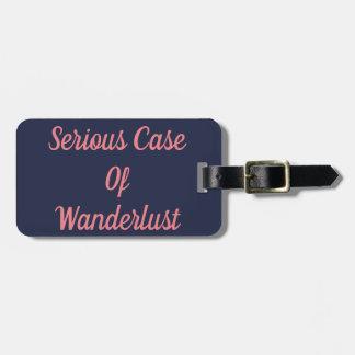 Ernster Kasten des Wanderlust-Gepäckanhängers Gepäckanhänger