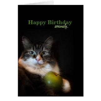 Ernsthaft lustiger Geburtstag wünscht Karte