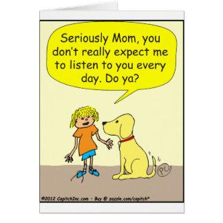 Ernsthaft Mamma 265 Cartoon Karte