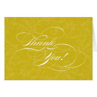 Ernsthaft Scripty danken goldenes Gelb Ihnen Karte