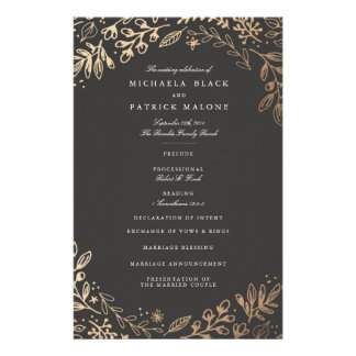 Ernte-Blumen, die Programm Wedding sind Flyer