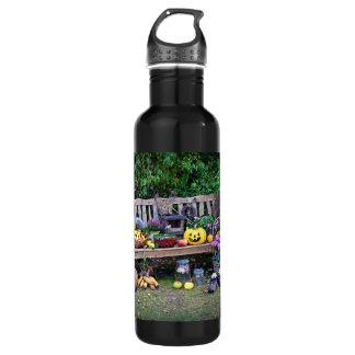 Erntedank an der Park-Bank Trinkflasche