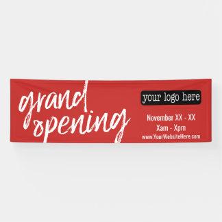 Eröffnungs-Anzeige - addieren Sie Logo und Details Banner