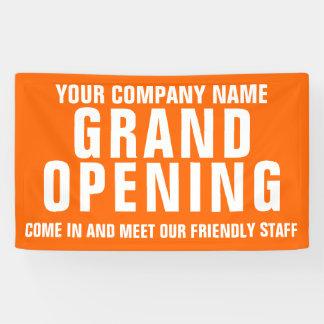 Eröffnungsgeschäft Signagefahne Banner