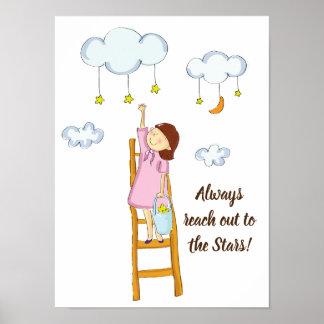 Erreichen Sie heraus für die Sterne Poster