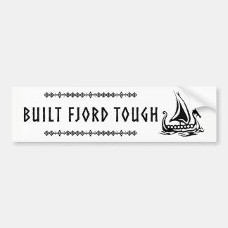 Errichteter Fjord-starker Autoaufkleber
