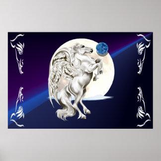 Errichtung des Pegasusstallions-Plakats Poster