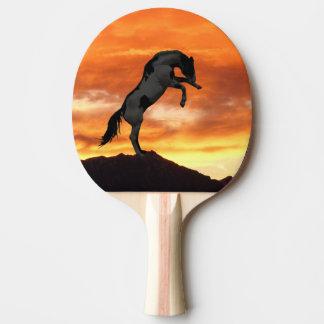 Errichtung von PferdeKlingeln Pong Paddel Tischtennis Schläger