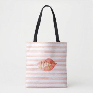 Erröten rosa Aquarell-Kuss des GoldXOXO