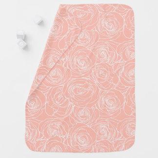 Erröten rosa Rosen-Baby-Decke Babydecke