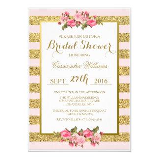 Erröten und GoldGlitter - Brautparty-Einladung 12,7 X 17,8 Cm Einladungskarte