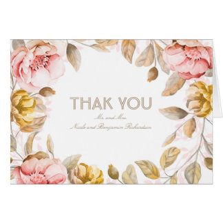 Erröten Watercolor-Blumen, Dekor-, denhochzeit Mitteilungskarte