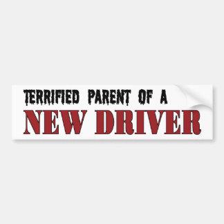 Erschrockenes Elternteil - neuer Fahrer Autoaufkleber