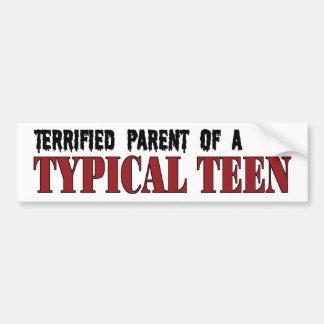 Erschrockenes Elternteil - typisches jugendlich Autoaufkleber