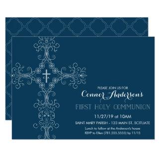 Erste die heilige Kommunions-Einladung des Jungen Karte