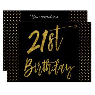 Erste Folien-Geburtstags-Einladung des Goldzwanzig Karte