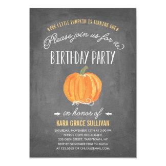 Erste Geburtstags-Einladung des Fall-Kürbis-  12,7 X 17,8 Cm Einladungskarte