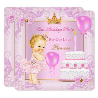 Erste Geburtstags-Prinzessin Tiara Girl Pink Karte