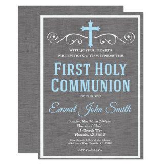 Erste heilige Kommunions-Einladung, erste Karte