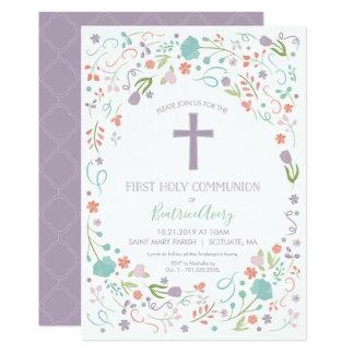 Erste heilige Kommunions-Einladung, fertigen Karte