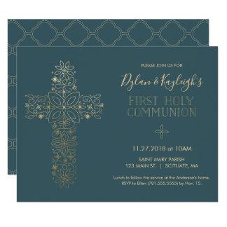 Erste heilige Kommunions-Einladung, Junge und/oder Karte