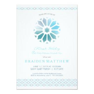 Erste heilige Kommunions-Einladung, Jungen laden 12,7 X 17,8 Cm Einladungskarte
