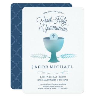 Erste heilige Kommunions-Einladung - Karte