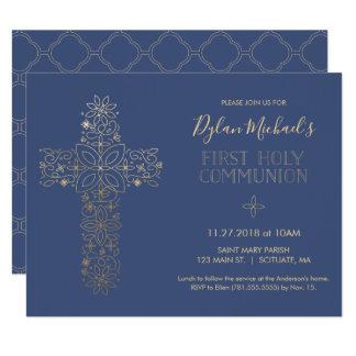 Erste heilige Kommunions-Einladung, Kommunion Karte
